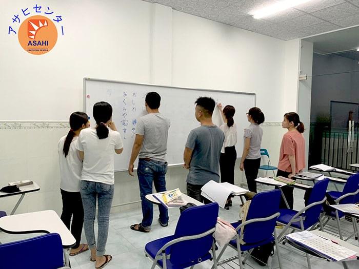 Học tiếng Nhật cho người mới bắt đầu tại Bình Dương - Tiết luyện tập nhóm