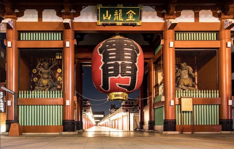 Kaminarimon (雷門) - Cổng Sấm ( Cổng chính)