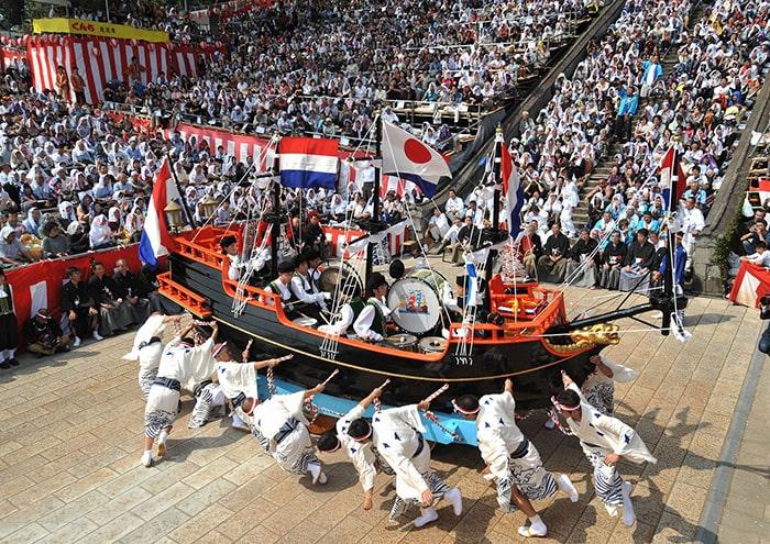 Lễ hội Nagasaki Kunchi ở Nhật Bản