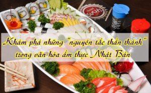 Sự tinh tế ẩm thực Nhật Bản - Quy tắc số 5 thần thánh