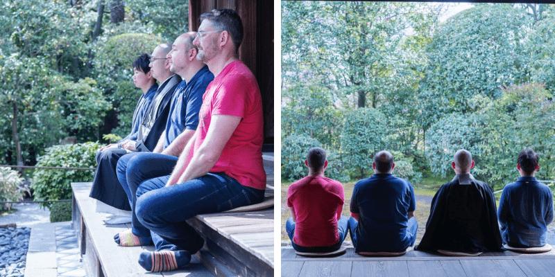 Trải nghiệm ngồi thiền bằng kẹo tại chùa Taizo-in