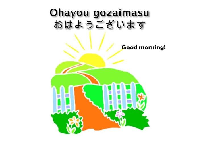 Các cách chào buổi sáng bằng tiếng Nhật  chuẩn Nhật